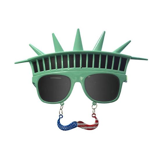 Bril met snor en kroon Vrijheidsbeeld