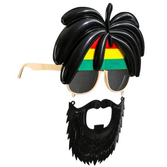 Bril met snor Jamaica