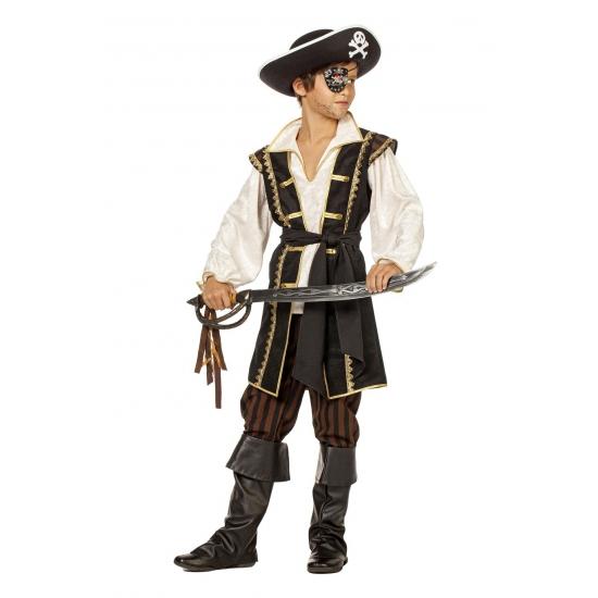 Bruin kostuum pirate voor jongens