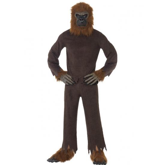 Bruine apen kostuum voor volwassenen