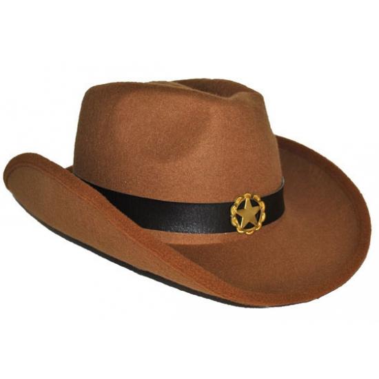 Bruine cowboyhoeden voor volwassenen