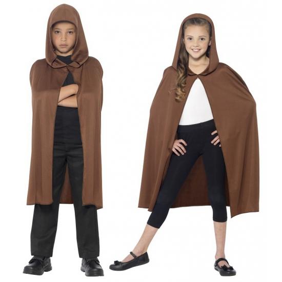 Bruine tovernaar cape voor kids