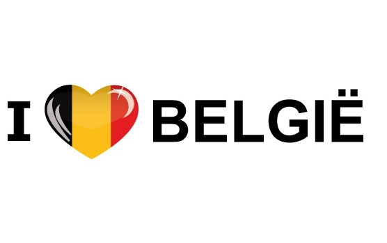 Bumper sticker I Love Belgie