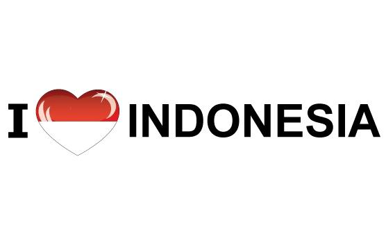 Bumper sticker I Love Indonesia