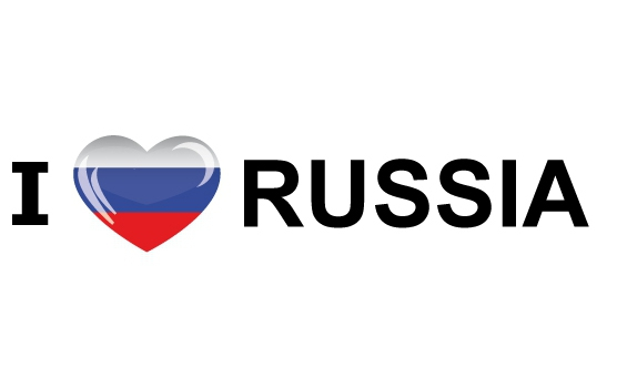 Bumper sticker I Love Russia