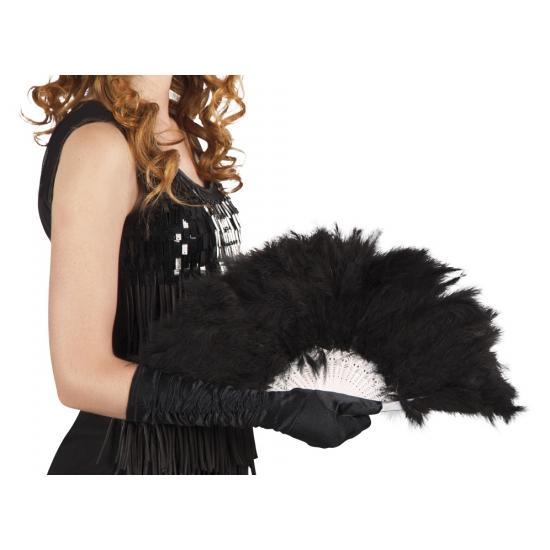Burlesque waaier zwart