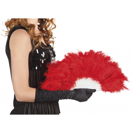 Burlesque waaiers rood