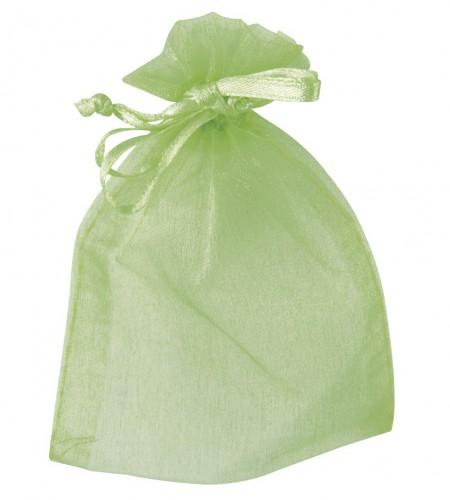 Cadeau zakjes groen van organza