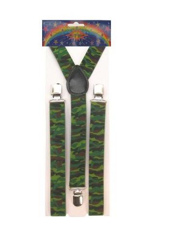 Camouflage bretels voor volwassenen