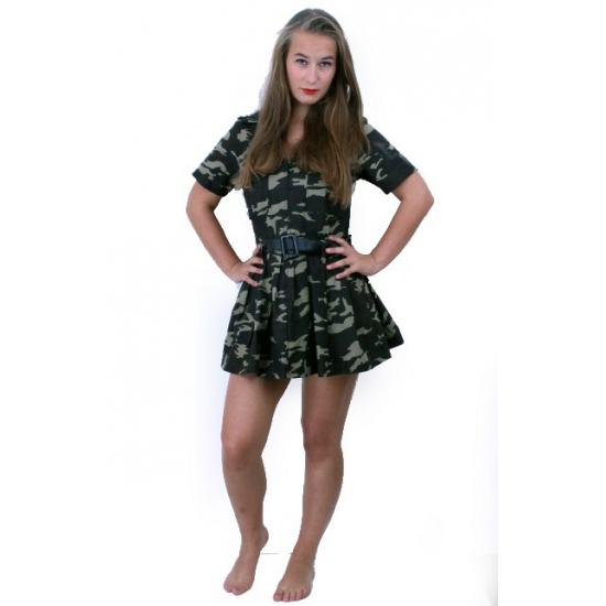 Camouflage jurk voor dames
