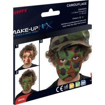 Camouflage kleuren schmink