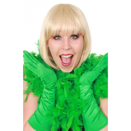 Carnaval boa groen 180 cm