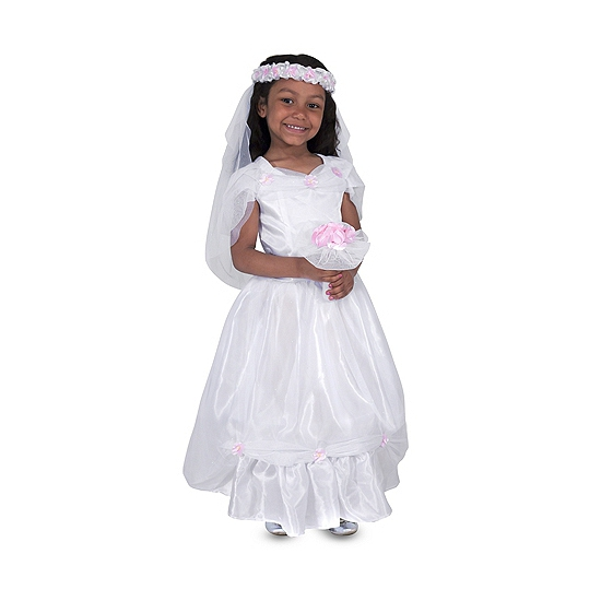 Carnaval bruidsjurkje voor meisjes