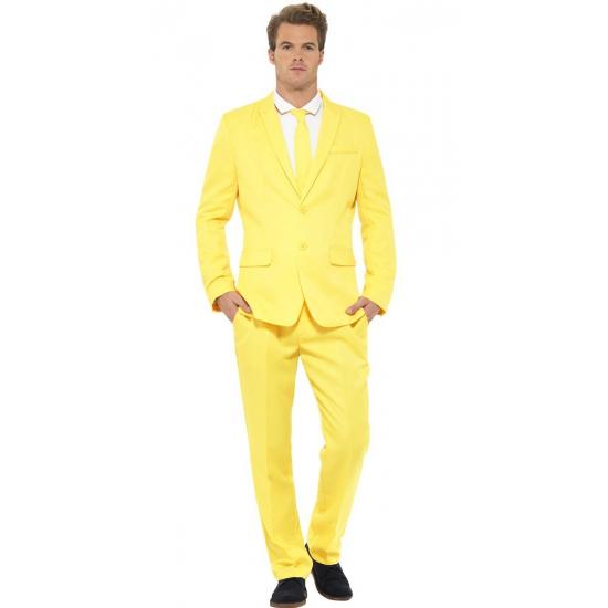 Carnavalskleding heren kostuum geel