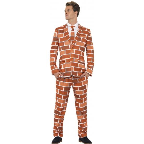 Carnavalskleding heren kostuum stenen muur