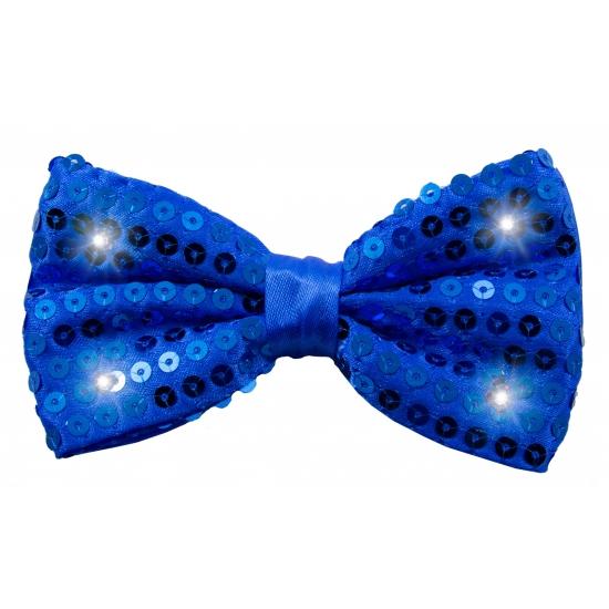 Carnavalstrikje met LED lichtjes blauw