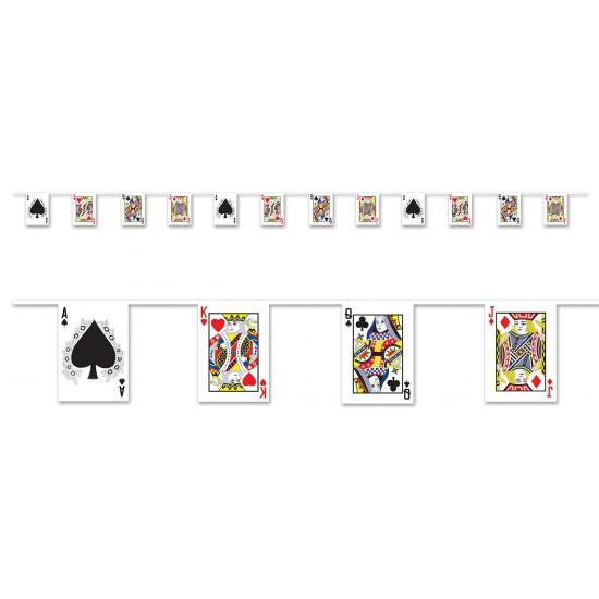 Casino thema versiering slinger