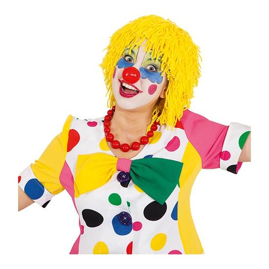 Clown pruik van geel wol
