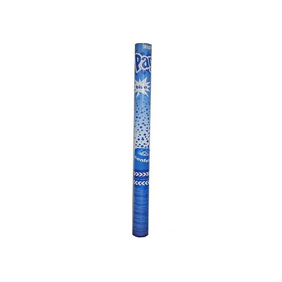 Confetti popper blauw 60 cm