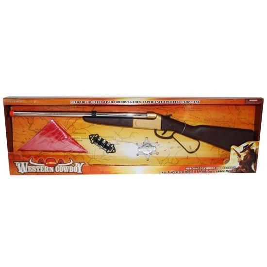 Cowboy speelgoedset met geweer