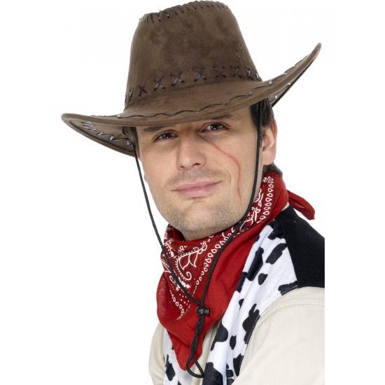 Cowboyhoeden bruin suede look
