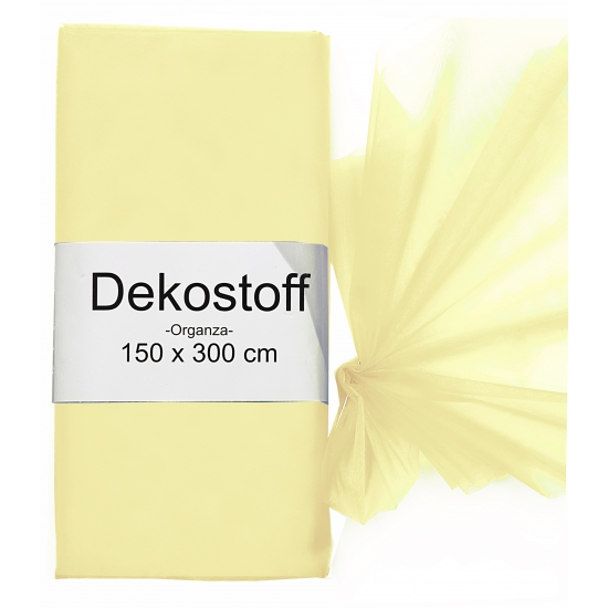 Creme kleurige organza stof 150 x 300 cm
