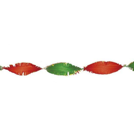 Crepe papier slinger rood   geel   groen 6 meter