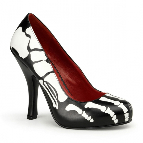Dames Halloween skelet pumps