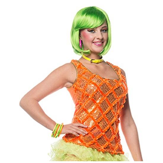 Dames hemd neon oranje