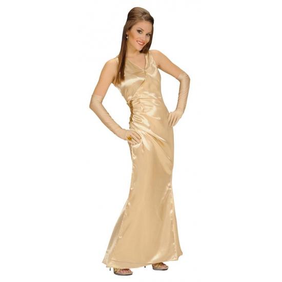 Dames jurk in de kleur goud