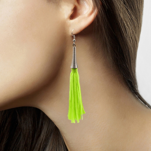 Dames oorbellen neon groen