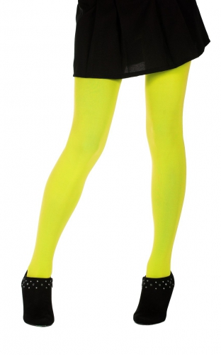 Dames panty neon geel