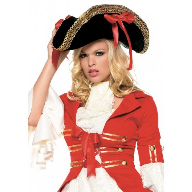 Dames piraten hoed met goud