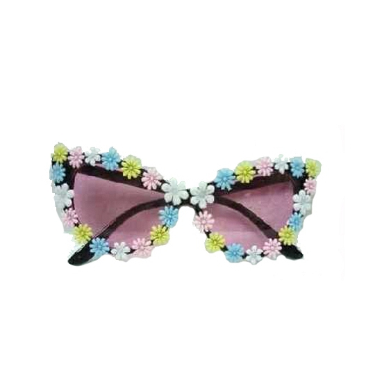 Damesbril met pastelkleurige hippie bloemetjes