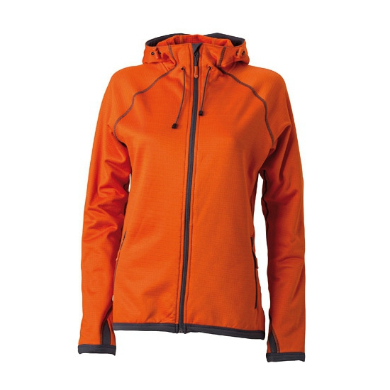 Dameskleding fleece vest oranje