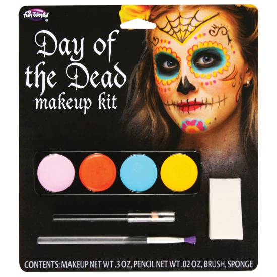 Day of the Dead schminkset gekleurd