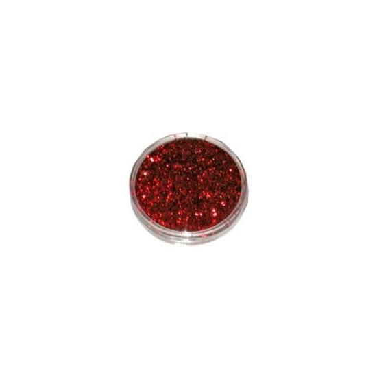 Decoratie materiaal rode glitters