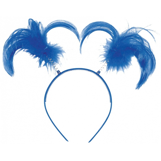 Diadeem met blauwe staartjes