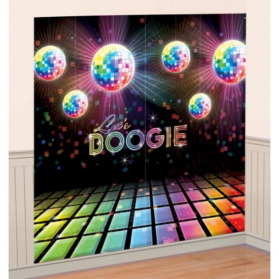 Disco boogie muurdecoratie