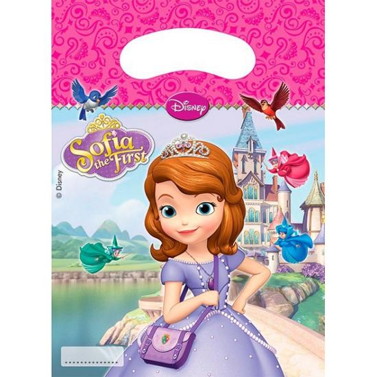 Disney Sofia uitdeelzakjes 6 stuks