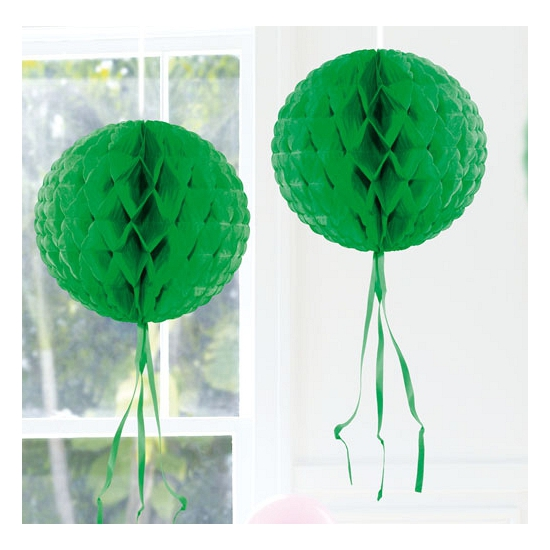 Donker groene versiering bol 30 cm