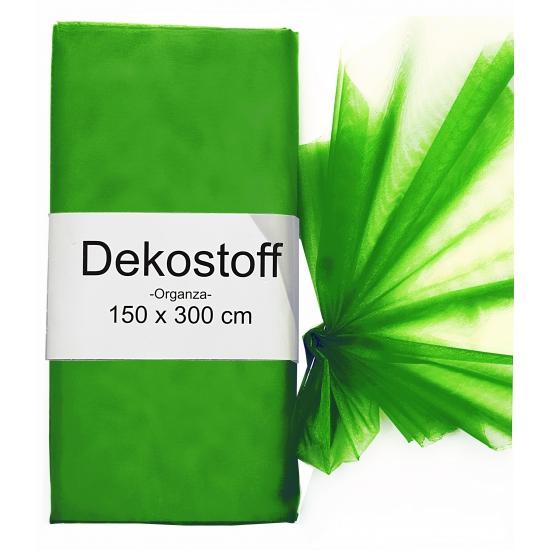 Donkergroene organza stof 150 x 300 cm