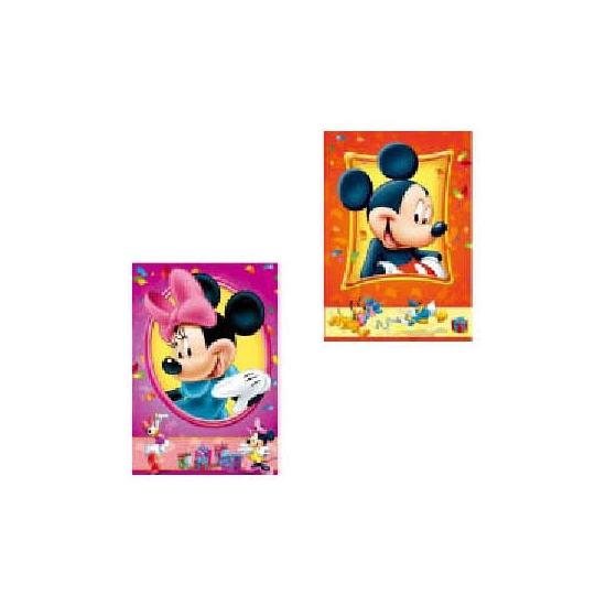 Dubbele wenskaarten Disney Mickey en Minnie