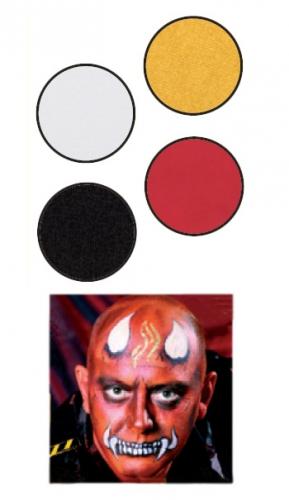 Duivel schmink set met 4 kleuren
