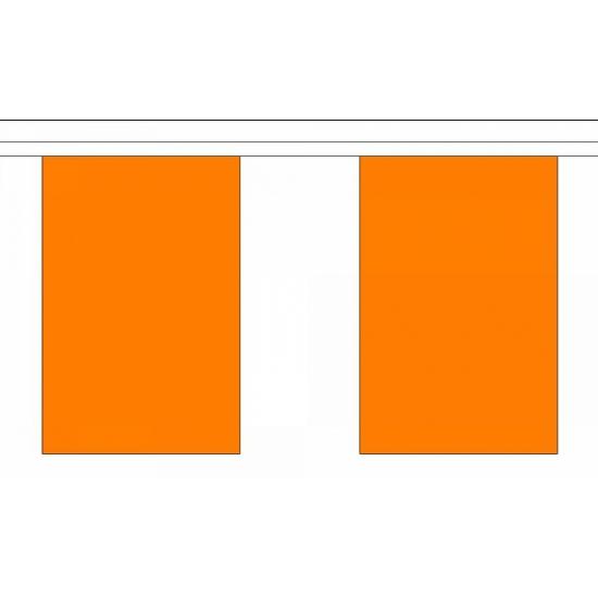 Effen oranje vlaggenlijn