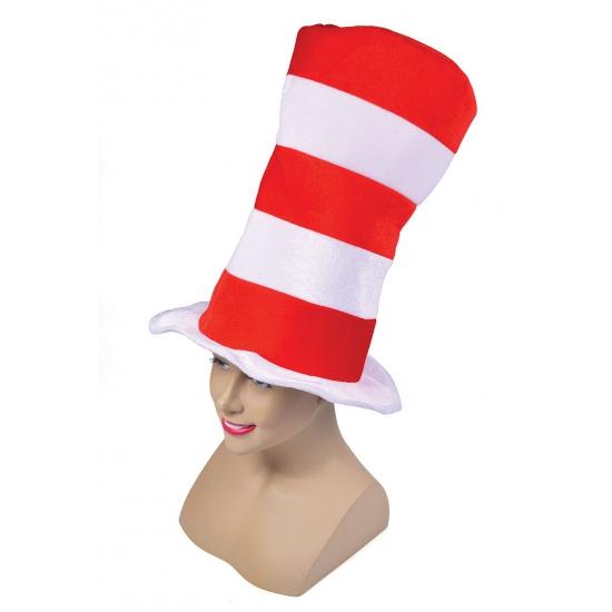 Extra lange hoge hoed gestreept