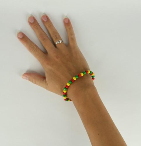 Fan kralen armband rood geel groen