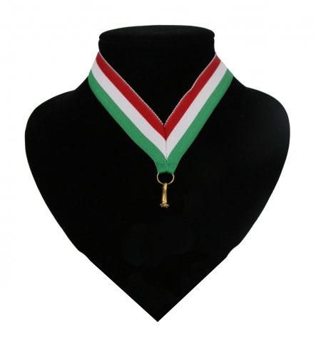 Fan medaille lint rood  wit en groen