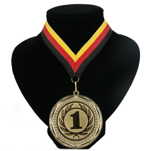 Fan medaille nr. 1 lint rood geel zwart
