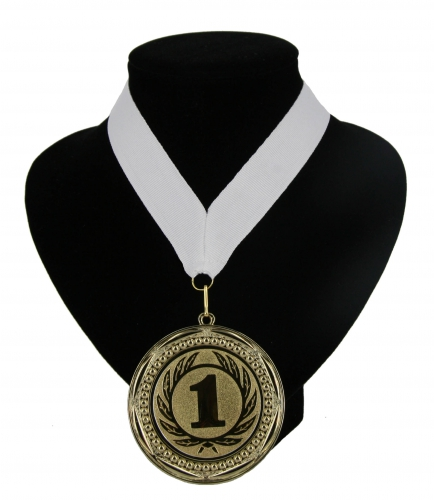 Fan medaille nr. 1 lint wit